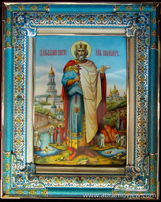 Владимир икона, серебряный оклад ...: www.abramovjew.com/catalog/49/icons/position/4901090.php