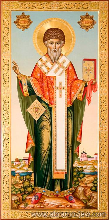 ... епископ Спиридон Тримифунтский, икона: www.abramovjew.com/kupit/ikona_spiridona_trimifuntskogo.php
