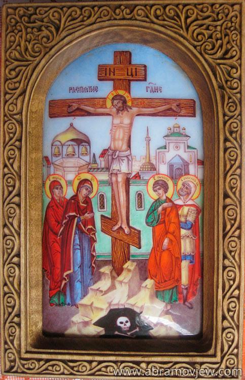 Вышивка крестом схема распятие христа 64